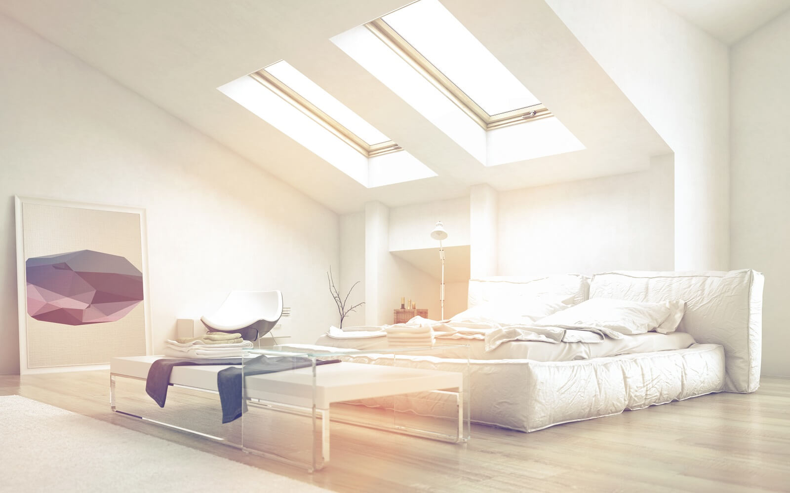 add skylights to your home like in this beautiful bedroom