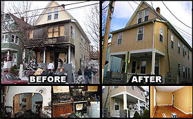 Terre Haute home fire cleanup Before and after fire damage restoration