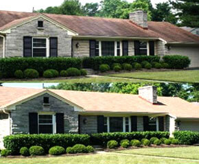 Terre Haute Home Roofing Repair Before and After